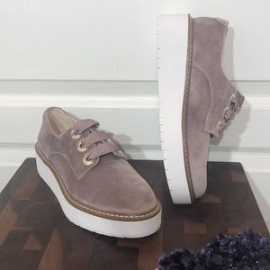 Zara Velvet Lace Up Loafers Size 36